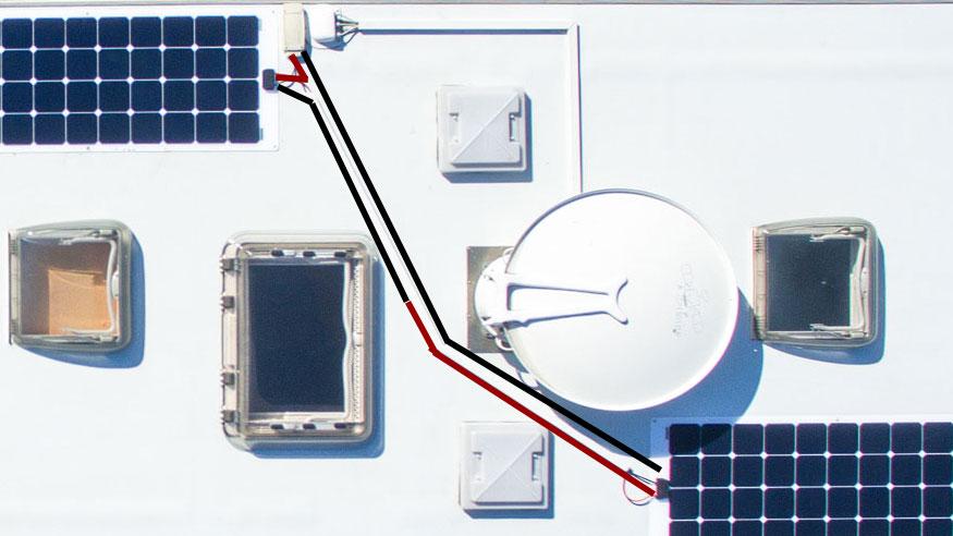 Serielle Verkabelung von Solarpanels