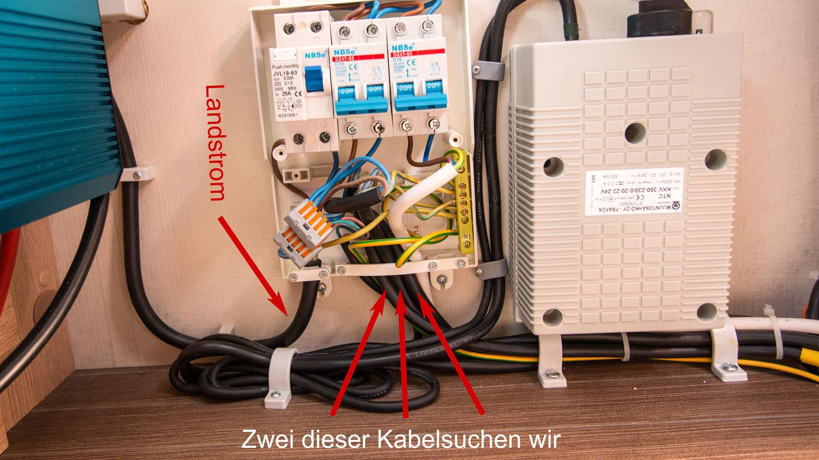 Steckdosen an Wechselrichter anschalten