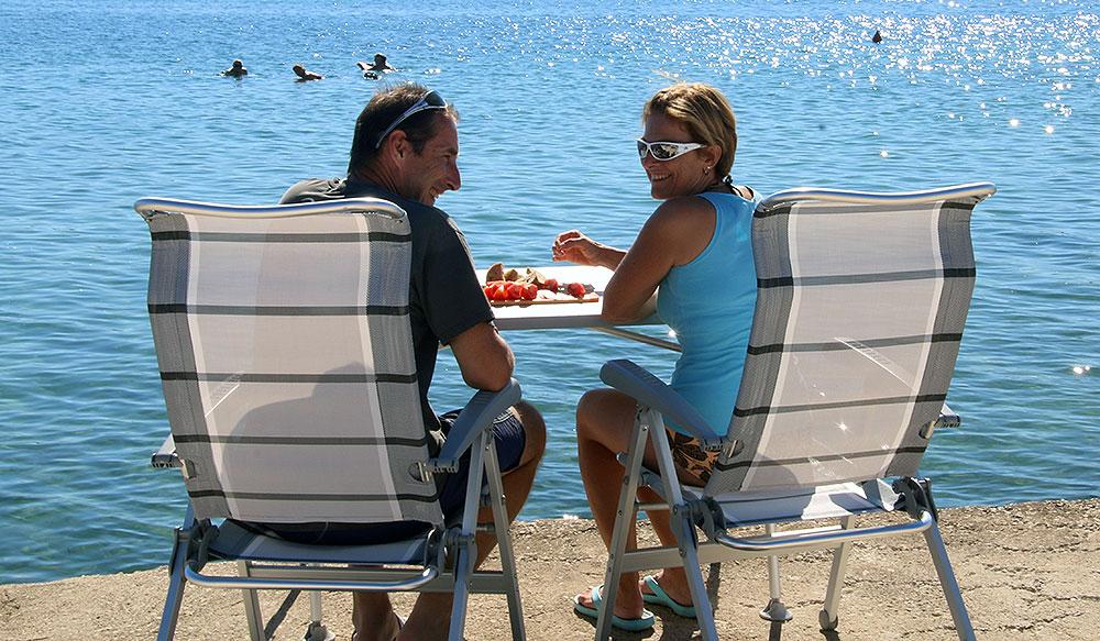 wir in Kroatien am Meer